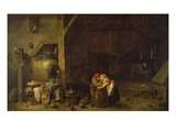 The Old Man and the Maidservant Gicl&#233;e-Druck von David Teniers