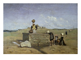 Bretonische Frauen Am Brunnen, 1850/55 Prints by Jean-Baptiste-Camille Corot
