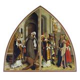Der Hl.Valentin Heilt Den Fallsuechtigen Und Verweigert Den Goetzendienst Giclee Print by Bartholomaüs Zeitblom