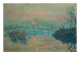 Sunset, 1880 Posters by Claude Monet