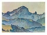 Le Grand Muveran (Berner Alpen), 1912 Gicléetryck av Ferdinand Hodler