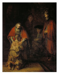 The Return of the Prodigal Son, about 1666/69 Giclee Print by  Rembrandt van Rijn