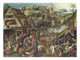 The Flemish Proverbs Impression giclée par Pieter Brueghel the Younger