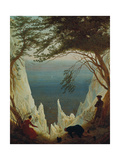 Chalk Cliffs on Ruegen, 1818/1819 Giclee Print by Caspar David Friedrich