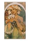 Blume, 1897 Giclée-Druck von Alphonse Mucha