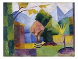 Garten Am Thuner See, 1913 Giclée-tryk af Auguste Macke