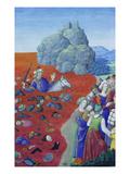 Der Untergang des Pharao Im Roten Meer. Aus Diurnal De René Ii.De Louvaine Giclee Print