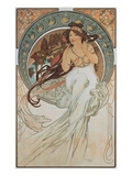 The Arts: Music, 1898 Giclee Print by Alphons Mucha