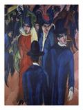 Berlin Street Scene, 1913 Art by Ernst Ludwig Kirchner