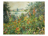 Flowering Meadow, Vetheuil, 1880 Art by Claude Monet