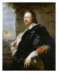 Portrait of Nicholas Lanier, 1628 Giclee Print by Sir Anthony Van Dyck