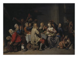 The Bean Feast, 1648 Giclee Print by David Ryckaert III