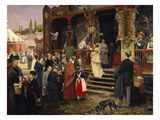 A Fair in Berlin Giclee Print by Carl Welz
