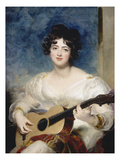 Lady Wallscourt, 1825 Giclee Print by Thomas Lawrence
