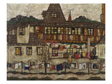 Houses with Clothes Drying, 1917 Giclee-vedos tekijn Egon Schiele
