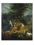 Orpheus Spielt Vor Den Tieren. Vor 1720 Giclee Print by Vaclav Vavrinec Reiner
