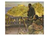 The Emperor and Empress Friedrich Iii at Villa Carnavon, 1900 Giclee Print by Kristian Zahrtmann