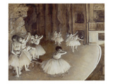 Ballet Rehearsal on Stage, 1874 Giclee Print by Edgar Degas