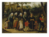 The Wedding Procession Impression giclée par Pieter Brueghel the Younger