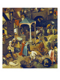 The Flemish Proverbs. (Detail of the Lower Centre) Posters by Pieter Bruegel the Elder