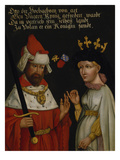 Otto III, Duke of Bavaria (Béla V., King of Hungary) with His Second Wife Agnes of Glogau Giclee Print by  German School