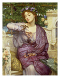 Lesbia with Her Sparrow, 1907 Giclee Print by Edward John Poynter