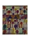 Kamel in Rhythmischer Baumlandschaft, 1920 Giclée-tryk af Paul Klee