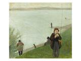 Fishermen at the Rhine River, 1905 Prints by August Macke