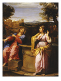 Christ and the Samaritan Woman at the Well Giclée-tryk af Francesco Albani