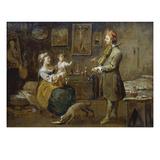 Die Familie Des Malers, 1752/54 Giclee Print by Norbert Jospeh Carl Grund