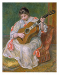 Woman with Guitar, 1897 Prints by Auguste Renoir
