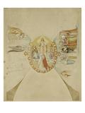 Das Paradies. Entwurf Fuer Das Deckenge- Maelde des Dantezimmers des Casino Massi- Giclée-Druck von Philipp Veit