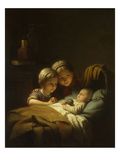The Little Sleeping Brother, 1855 Giclee Print by Johann Georg Meyer von Bremen