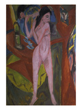 Nude Woman Combing Her Hair, 1913 Giclee Print by Ernst Ludwig Kirchner