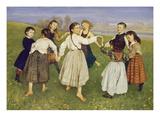 Kinderreigen, 1872 Kunstdruck von Hans Thoma