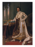 King Ludwig I. of Bavaria in Coronation Regalia , 1826 Giclee Print by Joseph Karl Stieler