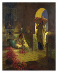 The Gathering of Roses Giclee Print by Rudolph Ernst