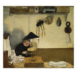 Madame Vuillard Sewing, 1895 Reproduction proc&#233;d&#233; gicl&#233;e par Edouard Vuillard