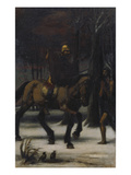 Triptych: the Three Horsemen. Left Panel: Saint Martin, 1885/1887 Giclee Print by Hans Marées