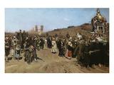Kreuzprozession Im Gouvernement Kursk, 1880/1883 Print by Ilya Efimovich Repin