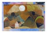 Landschaft in Rot Mit Dem Weissen Gestirn 1917 Giclee Print by Paul Klee