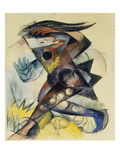 Caliban. Figure for Shakespeare's 'the Tempest', 1914 Print by Franz Marc