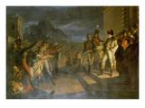 Saechsische Buerger Huldigen Napoleon Nach Der Schlacht Von Jena. Datiert 1820 Giclee Print by Pietro Benvenuti