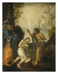 The Baptism of Christ Giclee Print by Lodovico Carracci