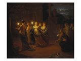 The Wise and Foolish Virgins Lámina giclée por Godfried Schalcken