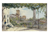 Villa Malta, Rome, about 1840 Giclee Print by Franz Ludwig Catel