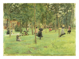 Playing Children in the Park, 1882 Giclee Print by Max Liebermann
