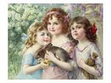 Die Drei Grazien Giclée-Druck von Emile Vernon