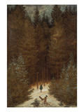 Hunter in the Forest, about 1813/1814 Print by Caspar David Friedrich