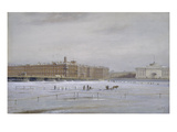 Ansicht des Winterpalastes Ueber die Vereiste Newa Hinweg. (St.Petersburg) Giclee Print by Nikolai Konstantinov Bool